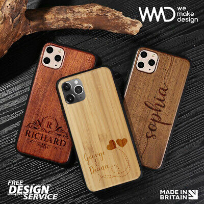 Personalised Wooden IPhone Case ( Laser Engraved ) Best Gift • 10.90£