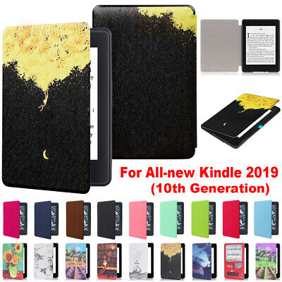 For Amazon All-New Kindle 10th Generation 2019 Leather Case Smart Cover Shell • 7.70£