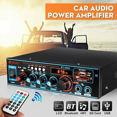 800W HiFi Bluetooth Digital Power Amplifier Mini Stereo Audio Amp Car Home 12V • 21.79£