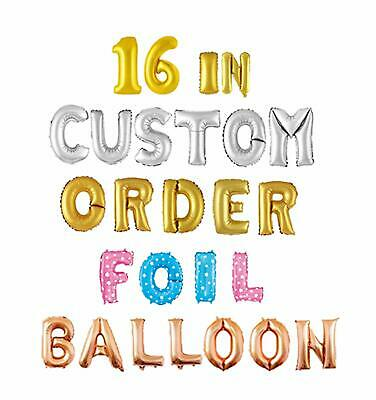 AU1 • Buy 16 Inch/35 Cm Gold Silver Rose Gold Letters/Numbers Foil Balloon