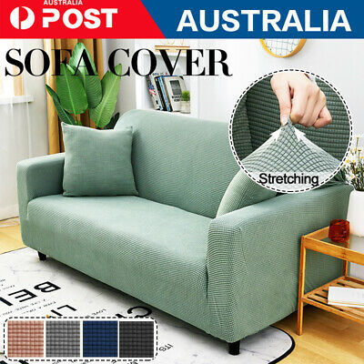 AU25.89 • Buy 1 2 3 Seater Couch Cover Sofa Covers Recliner Lounge Protector Slipcovers