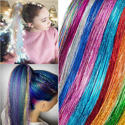 Clip In Hair Tinsel Sparkle Holographic Glitter Extensions Dazzles Partystyle Sa • 3.99£