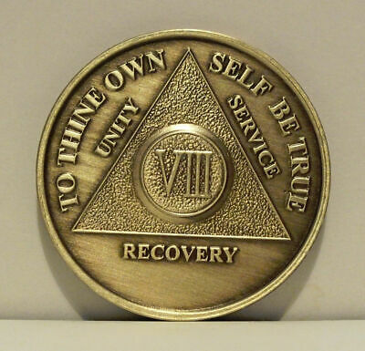 $7.20 • Buy Alcoholic 8 Year Recovery 8 Yr Chip Medallion Coin Medal Token  AA Anonymous