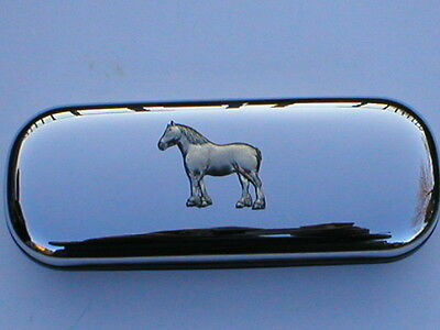 Shire Heavy Horse Cart  Brand New Chrome Glasses Case Make A Great Gift Xmas • 18.99£
