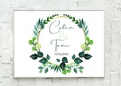 A4 Personalised Print Engagement Wedding Anniversary Gift Present  - Unframed • 4.99£