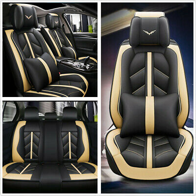 $ CDN185.03 • Buy Deluxe Edition Car Seat Cover Cushion 5-Seats Front+Rear Breathable PU Leather