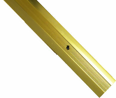 Carpet Metal Cover Grip Strip Door Plate Bar Trim - Threshold Brass / Gold 900mm • 2.09£