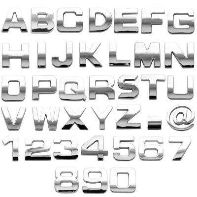 £3.08 • Buy 3D CHROME LETTERS 1  Adhesive Car Truck Van V8 Number Decal 50% OFF 3 OR MORE