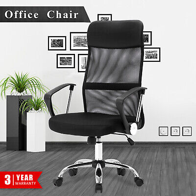 AU109.90 • Buy Gaming Chair High Back Executive Computer PU Leather Mesh Office Chairs Black