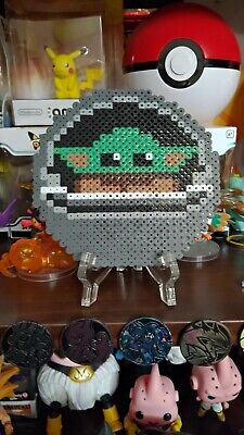 $9.99 • Buy Space Pod Baby Yoda Perler Bead Decoration Homemade Pixel Art