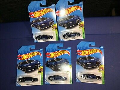 $10 • Buy Lot Of(5) 2016 Bugatti Chiron Hot Wheels,new Casting For 2019,blue,hw Exotics!