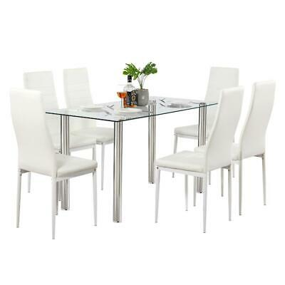 $84.79 • Buy Durable Different Style 5 Piece Dining Table Settables Glass Metal Furniture NEW