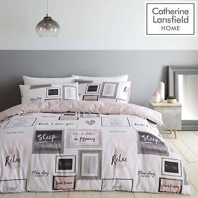 £14.95 • Buy Catherine Lansfield Sleep Dreams Pink Duvet Covers Blush Quilt Cover Bedding Set
