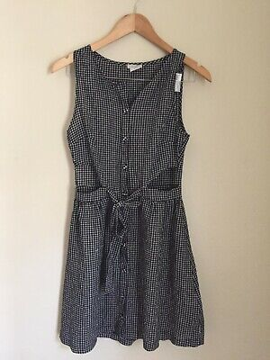 AU7.50 • Buy Urban Outfitters Cooperative Black& White Gingham Dress W Cut Out Sides Size S