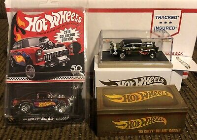 $150 • Buy Hot Wheels 55 Chevy Gasser 2019 RLC Flying Aces 2018 Collector Edition 2 Car Lot