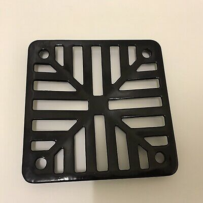 £8.55 • Buy Square Gully Grid Grate Heavy Duty Drain Cover Black High Quality Finish 6x6 N52