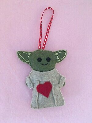 $8 • Buy Baby Yoda, Felt Yoda, Valentine Gifts, Star Wars Ornaments