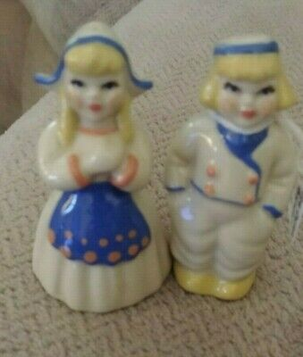 $3.55 • Buy Cute Nice Vtg Ceramic Arts  Studio App 3  Wee Dutch Boy Girl Salt Pepper Shakers