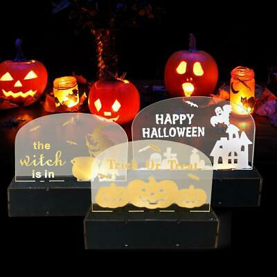 $6.97 • Buy Wooden Halloween Ghost House LED Light Table Ornament Festival Decorative Craft