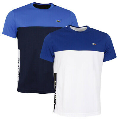 Lacoste Mens Ribbed Neck Ultra Dry Pique Crocodile T-Shirt 28% OFF RRP • 43£