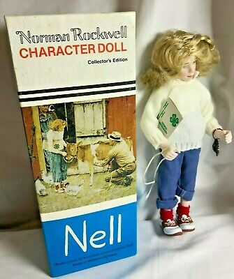 $17.76 • Buy Vtg. Norman Rockwell  Character Doll   Nell   1981 Germany Limited Edition (A005