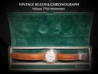 $715 • Buy Vintage Bulova Chronograph W/ Valjoux 7750 Movement & Original Box (Nice)