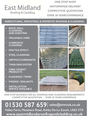 Cheap, Shed,garage, Lean To,box Profile,metal Roof Sheets,cladding,tile Effect. • 1£
