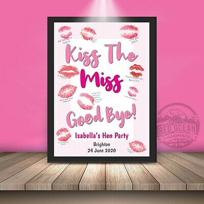 £2.79 • Buy Hen Party Game Accessories Kiss The Miss Goodbye Personalised Do Gift Keepsake