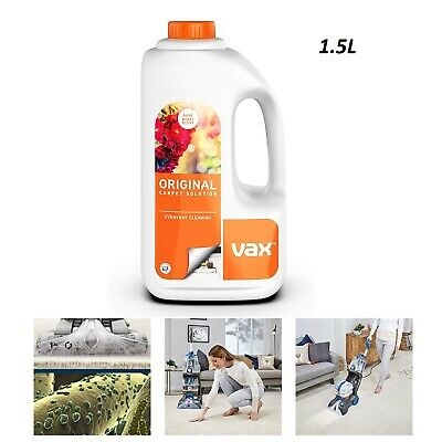 Vax Carpet Shampoo Upholstery Cleaning Solution For ALL Vax Carpet Cleaners 1.5L • 13.29£