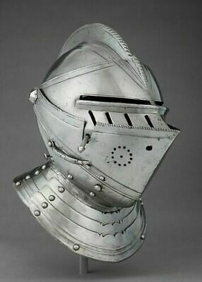 Medieval European Helmet Closed Helmet Direct Combat Steel Helmet Armor Helmet • 198.04£