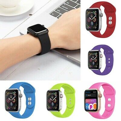 $ CDN5.21 • Buy Silicone 4 5 Watch Series 38/42/40/44mm 3 Sports Strap 2 For Apple IWatch 1 Band
