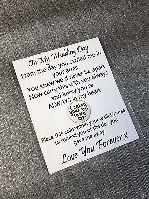 Father Of The Bride Gift, Step Dad Keepsake, Wedding Favour, FOB Gift, MOB Gift • 4.99£