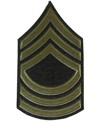 US Arm Rank Insignia - Master Sergeant Stripes, WW2 US Army Reproduction Iron On • 6.99£