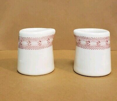 $3 • Buy Pair VINTAGE Mayer China  Creamers  Red And  White  Chesterfield 2 Inch