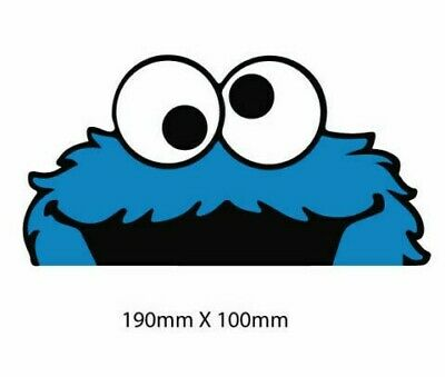 AU5.45 • Buy PEEPING COOKIE MONSTER Sticker Decal Drift JDM Car  Window Funny CUTE BUMPER STI