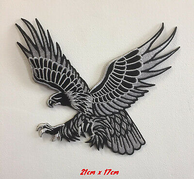 Hunting Eagle Bird Art Badge Clothes Iron Or Sew On Embroidered Patch • 7.99£
