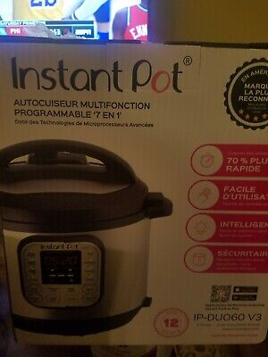 $99 • Buy Instant Pot DUO60 V3 6Qt 7-in-1 Multi-Use Programmable Pressure Cooker