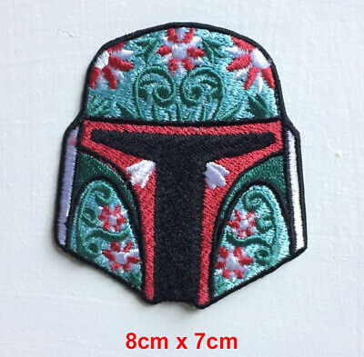 Boba Fett Helmet Star Wars Badge Iron Or Sew On Embroidered Patch • 2.64£