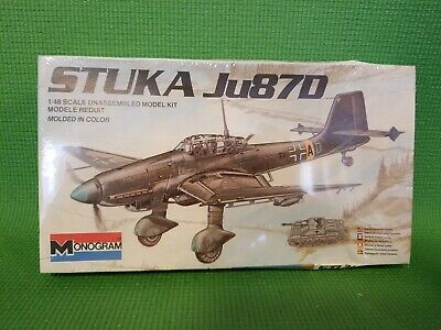 $19 • Buy 1983 MONOGRAM STUKA JU87D 1/48 SCALE PLANE MODEL KIT -Military Airplane -Hobby