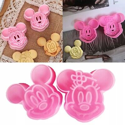 2pcs/set Mickey Mouse Mold Cake Cookie Mold Cutter Fondant Baking Tool Biscuit  • 2.99£