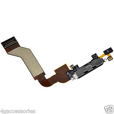 IPhone 4S USB Charging Charger Port Dock Block Connector Flex Cable Black • 2.99£