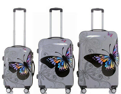 Hard Shell Case Cabin 4 Wheels Spinner Trolley Luggage Suitcase Holiday Travel • 80.99£