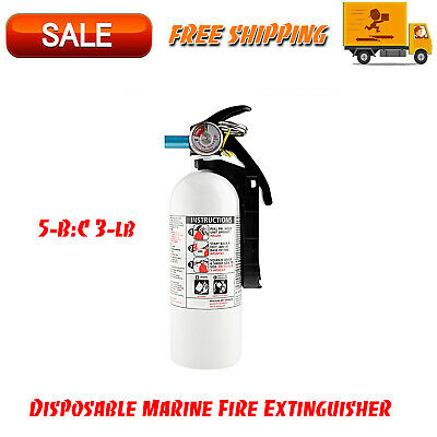 $21.95 • Buy 5-B:C 3-lb Disposable Marine Fire Extinguisher, Facility Safety Equipment