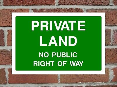 Private Land No Public Right Of Way Correx Safety Sign 300mm X 200mm X 6mm Green • 5.49£