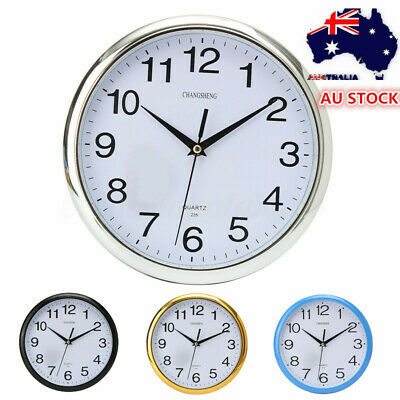 AU12.35 • Buy New Large Vintage Silent Analogue Round Wall Clock Home Bedroom Kitchen