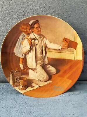 $ CDN7.99 • Buy Norman Rockwell's  The Painter  Knowles Limited Edition 8-1/2  Plate