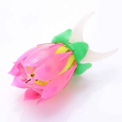 $ CDN2.33 • Buy 1pc Lotus Flower Candle Musical Blossom Candles Happy Party Birthday Gift B3S7