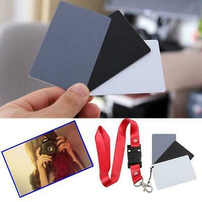 Digital Color Balance 18% Gray Card 3in1 Black Grey For Photography White H2S4 • 1.95£