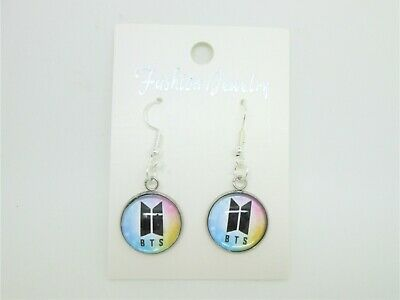 Bts Bangtan Boys Pair Of  Logo  Fish Hook Earrings Kpop • 3.50£