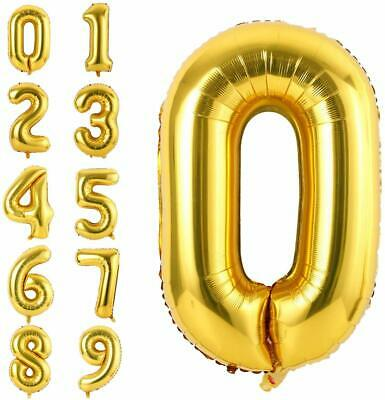 AU3.85 • Buy 84 Cm Gold Foil Number Balloon Birthday Wedding Helium Quality